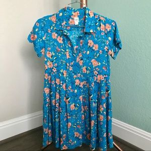 Gap girl pleated floral tunic dress 10